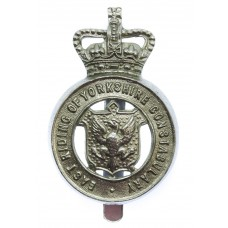 East Riding of Yorkshire Constabulary Cap Badge - Queen's Crown
