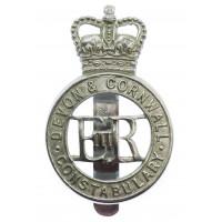 Devon & Cornwall Constabulary Cap Badge - Queen's Crown