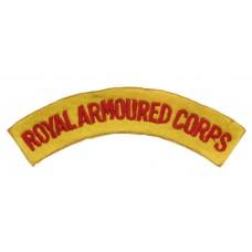 Royal Armoured Corps (ROYAL ARMOURED CORPS) Cloth Shoulder Title