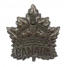 Canadian Canada WW1 General Service Cap Badge