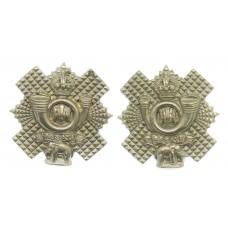Pair of Highland Light Infantry (H.L.I.) Collar Badges - King's C