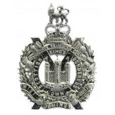 King's Own Scottish Borderers (K.O.S.B.) Anodised (Staybrite) Cap Badge