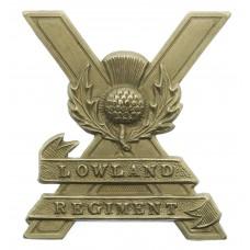 Lowland Regiment Cap Badge