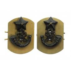 Pair of Cameronians (Scottish Rifles) Collar Badges