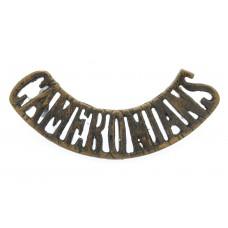 Cameronians (Scottish Rifles) 'CAMERONIANS' Shoulder Title