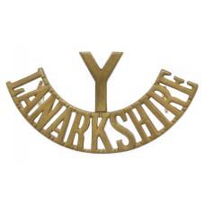 Lanarkshire Yeomanry (Y/LANARKSHIRE) Shoulder Title
