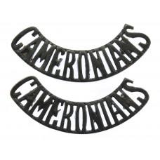 Pair of Cameronians (Scottish Rifles) (CAMERONIANS) Shoulder Titles
