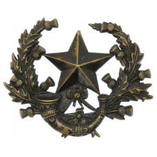 Victorian Cameronians (Scottish Rifles) Blackened Brass Cap Badge