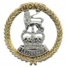 Mons Officer Cadet School Anodised (Staybrite) Cap Badge