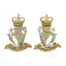 Pair of Royal Irish Rangers Officer's Collar Badges
