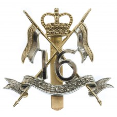 16th/5th Queen's Lancers Anodised (Staybrite) Cap Badge