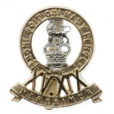 15th/19th Hussars Anodised (Staybrite) Cap Badge