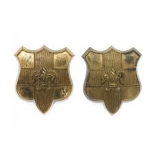 Pair of Loyal North Lancashire Regiment Collar Badges