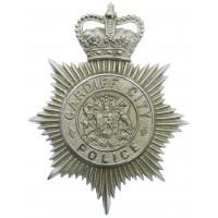 Cardiff City Police Helmet Plate - Queen's Crown