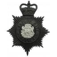 Cardiff City Police Night Helmet Plate - Queen's Crown