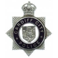 Cardiff City Police Senior Officer's Enamelled Cap Badge - King's Crown