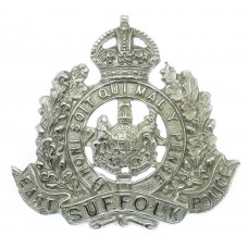 East Suffolk Police Chrome Cap Badge - King's Crown