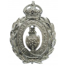 Stockport Borough Police Wreath Helmet Plate - King's Crown