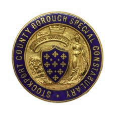 Stockport County Borough Special Constabulary Enamelled Lapel Bad