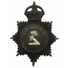 Luton Borough Police Night Helmet Plate - King's Crown