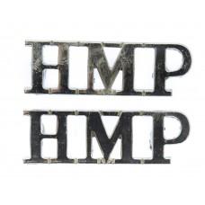 Pair of H. M. Prison Service (H.M.P.) Shoulder Titles
