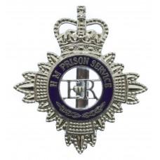 H. M. Prison Service Enamelled Cap Badge - Queen's Crown