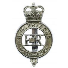 H. M. Prison Service Cap Badge - Queen's Crown