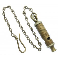 Metropolitan Police 'The Metropolitan' Patent Numbered Whistle & Chain - No. 30552