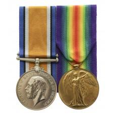 WW1 British War & Victory Medal Pair - Pte. H. Senior, King's