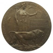 WW1 Memorial Plaque (Death Penny) - Walter Roome