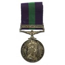 General Service Medal (Clasp - Malaya) - Spr. K.A. Wells, Royal E
