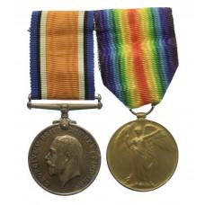WW1 British War & Victory Medal Pair - Pte. G.H. Mitchell, Ar