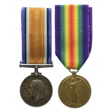 WW1 British War & Victory Medal Pair - Pte. H.J. Crowe, Machi