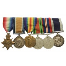 WW1 and WW2 Royal Navy Long Service Medal Group of Six - Ch. Sto.
