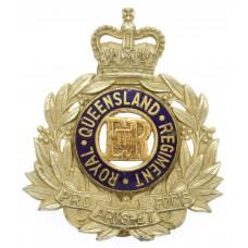 Australian Royal Queensland Regiment Cap Badge - Queen's Crown