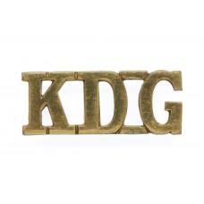 1st King's Dragoon Guards (K.D.G.) Shoulder Title