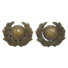 Pair of Royal Marines Officer's Service Dress Collar Badges