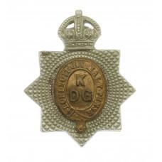 1st King's Dragoon Guards Collar Badge - King's Crown