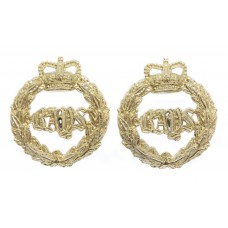 Pair of Queen's Bays (2nd Dragoon Guards) Anodised (Staybrite) Co