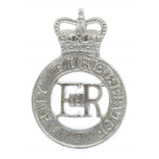 Army Fire Service Anodised (Staybrite) Cap Badge