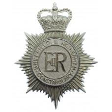 Sheffield & Rotherham Constabulary Helmet Plate - Queen's Cro