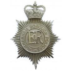 Rotherham Borough Police Helmet Plate - Queen's Crown