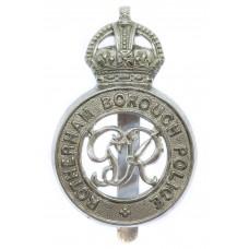 George VI Rotherham Borough Police Cap Badge