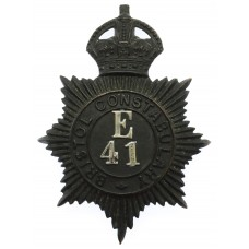 Bristol Constabulary Night Helmet Plate - King's Crown (E41)