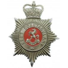 Kent Constabulary Enamelled Helmet Plate - Queen's Crown