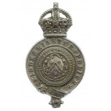 Kidderminster Police Helmet Plate - King's Crown