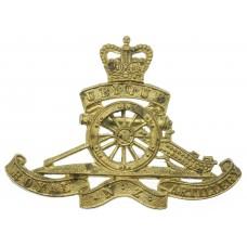 Royal New Zealand Artillery Cap Badge - Queen's Crown