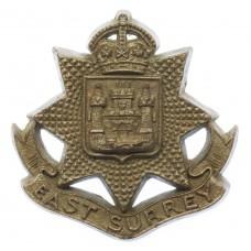 East Surrey Regiment WW2 Plastic Economy Cap Badge