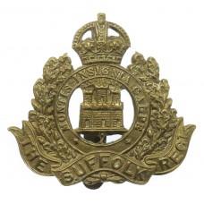 Suffolk Regiment WW All Brass Economy Cap Badge