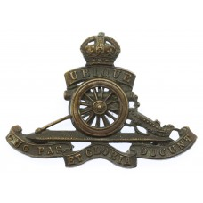 Royal Artillery Officer's Service Dress Cap Badge - King's Crown